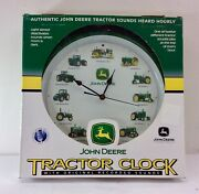 John Deere Tractor Clock With Real Authentic Tractor Sounds New In Box