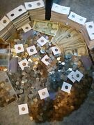 Estate Sale Coins Currency Collection Silver And Old Us Coins