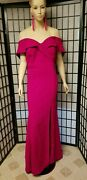 New Womenand039s Xscape Off The Shoulder Magenta Gown Sz 16w