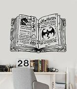 Vinyl Wall Decal Old Open Magic Spell Book Dragons Decor Stickers Mural G5158