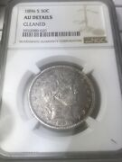 1896 S Barber Silver Half Dollar 50c Ngc Au About Uncirculate Rare Key Date