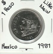 Mexico 1 Peso About New Conditions Coin 1981.