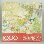 Vtg Springbok Twas The Night Before Christmas Puzzle 1000 Pieces New Damaged Box