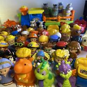 Vintage Fisher Price Little People Lot- 64 Pieces Vehicles Animals Some Nativity