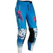 Moose Racing Blue/pink/white Agroid Pants For Offroad Motocross - Men's Sizes