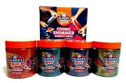 Elmerand039s Gue Pre-made Slime Cosmic Shimmer Variety Pack - Teal Purple Red Gold