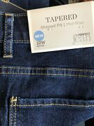 Christopher And Banks Nwt 22wp Tapered Shaped Fit Mid Rise The Perfect Jeans Denim