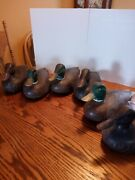 Vintage Lot Of 6 D-9-r Victor Duck Decoys By Woodstream 1967