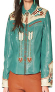 Double D Ranch Letand039s Smoke The Peace Pipe Jacket - Galloway Green