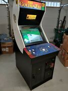 Golden Tee Fore 2002 Video Arcade Machine Cabinet Full Size Works Great