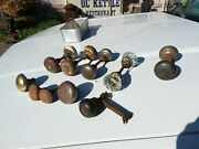Lot Of 5 Antique Door Knobs + Extras Vintage Home Decor Glass Old