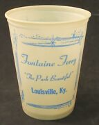 Old Fontaine Ferry Amusement Park Cup Louisville Ky Fountain