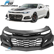Fits 19-21 Chevy Camaro Zl1 Style Front Bumper Conversion - Unpainted Pp