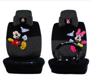 18ps/set New Cute Mickey Mouse Universal Car Seat Covers Seat Cushion Plush 803