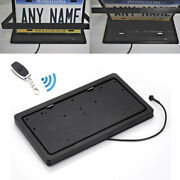 1x Flippable Car Usa Standard License Plate Frame Number Switch Swap Pad Remote
