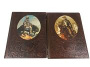 2 Time Life Books The Old West Series Trailblazers And Gunfighters Leatherett 1974