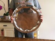 Sterling Silver 18andrdquo Round Serving Tray Platter 30 Ounces Of Beautiful