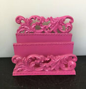 Shabby Chic French Country Cottage Barbie Pink Letter Napkin Holder Organizer