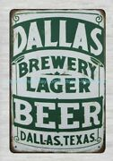 Online Decor Stores Dallas Brewery Lager Beer Dallas Texas Metal Tin Sign