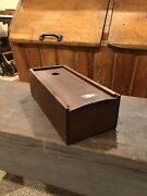 Antique Primitive Wooden Candle Box With Divider