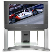 Sony Xbr Trinitron Kd-34xbr960 Hdtv Crt Tv Television With Matching Stand