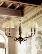 Suspended Lights Classic Brass Crystal And Lampshade