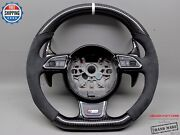 Audi 4g A6 S6 A7 S7 4h A8 S8 White Ring Alcantara Thick Carbon Steering Wheel V1