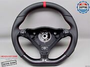 Porsche 980 Carrera Gt 996 Boxster Napa Red Flat Btm Carbon Steering Wheel V1