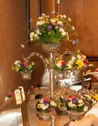 Gorgeous Glass Replica 1800and039s Sweetmeat Tiered Dish Vase Flower Floral Wedding