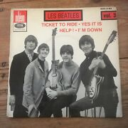 The Les Beatles Volume 3 Ticket To Ride French Odeon 7andrdquo Vinyl Ep Moe 21 003