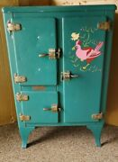 Rare, Antique, Gibson Metal Ice Box With All Original Hardware