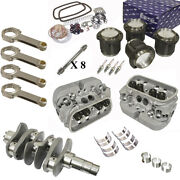1600cc Air-cooled Vw Engine Rebuild Kit 69mm Crank New Heads And Pistons