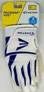Easton Prowess Vrs Women's Xl Batting Glove Royal Blue And White