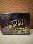 Pokemon Detective Pikachu Collectors Chest Lunch Box 9 Booster Packs Tin/ Sealed