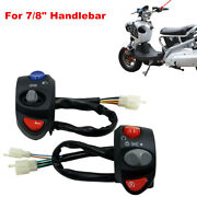 Motorcycle Refit 7/8 Handlebar Turn Signal On Off Light Switch Horn Button Set