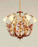 Suspended Lights Classic With Glass Sandblasted And Crystal Amber