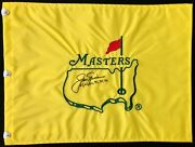 Jack Nicklaus Signed Undated Masters Augusta National Golf Club Flag Autographed