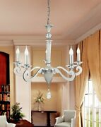 Suspended Lights Classic Metal Silver And Crystal Clear
