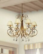 Suspended Lights Classic With Crystal Clear Gold And Shade