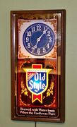 Vtg Old Style Beer Illuminated Light Up Wall Hanging Clock Sign - Man Cave...