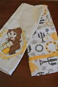 New Beauty And The Beast Belle Dish Towel Set Kitchen Embroyered Dish Towel Set