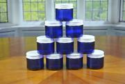 2oz Cosmetic Glass Jars 10 Pack Cream Makeup Lotion Medicine Containers Cobalt