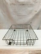 Antique Vintage In/out Wire Basket Letter Tray Office Industrial Machine Age