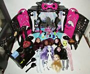 Monster High Lot 13 Wishes Party Lounge Playset Doll Heads Parts Shoes Access