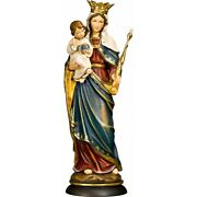 Mary Queen Madonna Holzgeschnitzte Mother Of God With Child Virgin Mary Baby