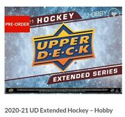 20-21 Ud Extended Hockey Hobby 12 Box Case Presale Buy Before Its Gone 🔥hot
