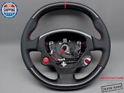 Ferrari F430 Perforated 5mm Red Ring And Stitch Thickest Carbon Steering Wheel V2