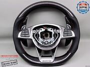 Mercedes E63 Sl65 C63 A45 Gls63 Amg Gt Cls63 Perforated Carbon Steering Wheel V1