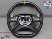 Mercedes G63 G500 Gl63 Gl550 Ml63 8 Yellow Perforated Carbon Steering Wheel V2