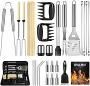 Outdoor Grilling Accessories Set Camping Utensil Kit Bbq Cooking Case Organizer